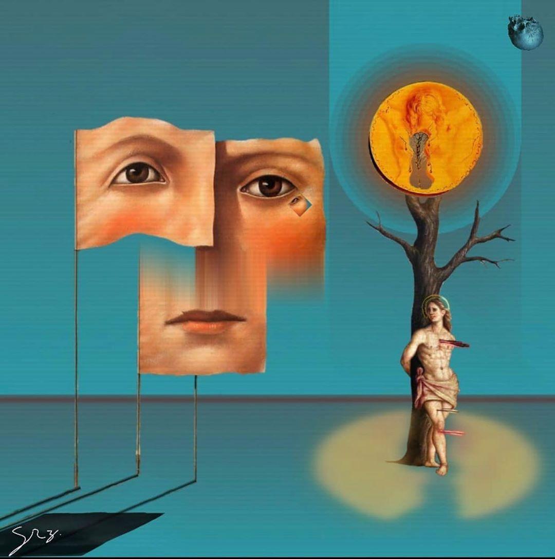 @ilovesurrealart  Colombian Artist: @dihidroxifenilalanina 🇨🇴 #surrealism #surreal #art #artoftheday #digitalart #sun #tree #bird #inspiration  #clouds #flowers #birds #skull #women #collage  #man #inspire #creative #time #trippy #cool #weird #rose #instaart #instadaily #artist