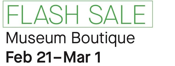 ✨ Flash sale at the museum Boutique! ✨  End the month of February with a shopping spree! For a limited time only, take advantage of discounts on jewelry, books, textiles and more. https://t.co/14MpU6oB7Y