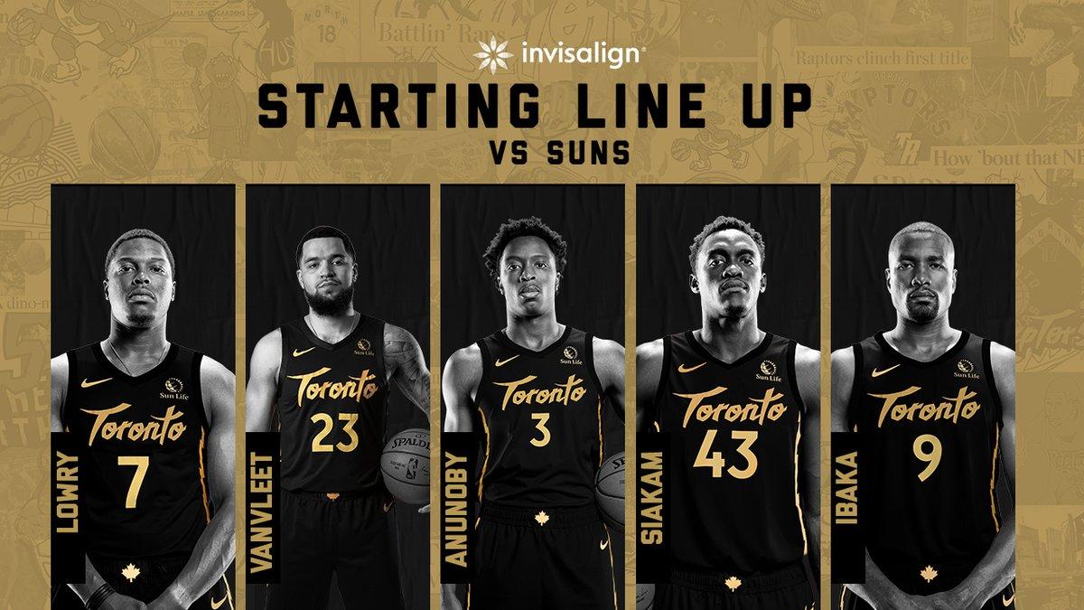 Tonight's @Invisalign starting lineup. #WeTheNorth