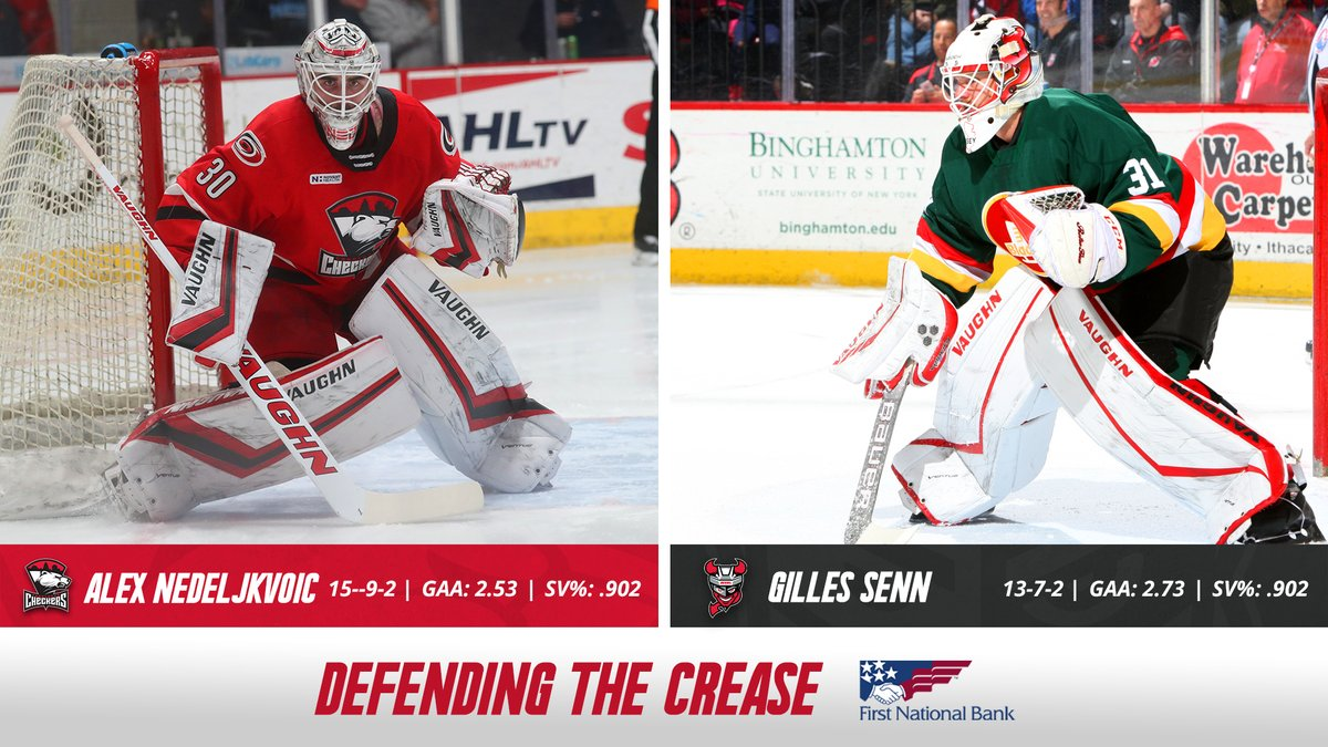 Ned gets the nod in net! #LetsGoCheckers<br>http://pic.twitter.com/Yyb6SxNZYQ