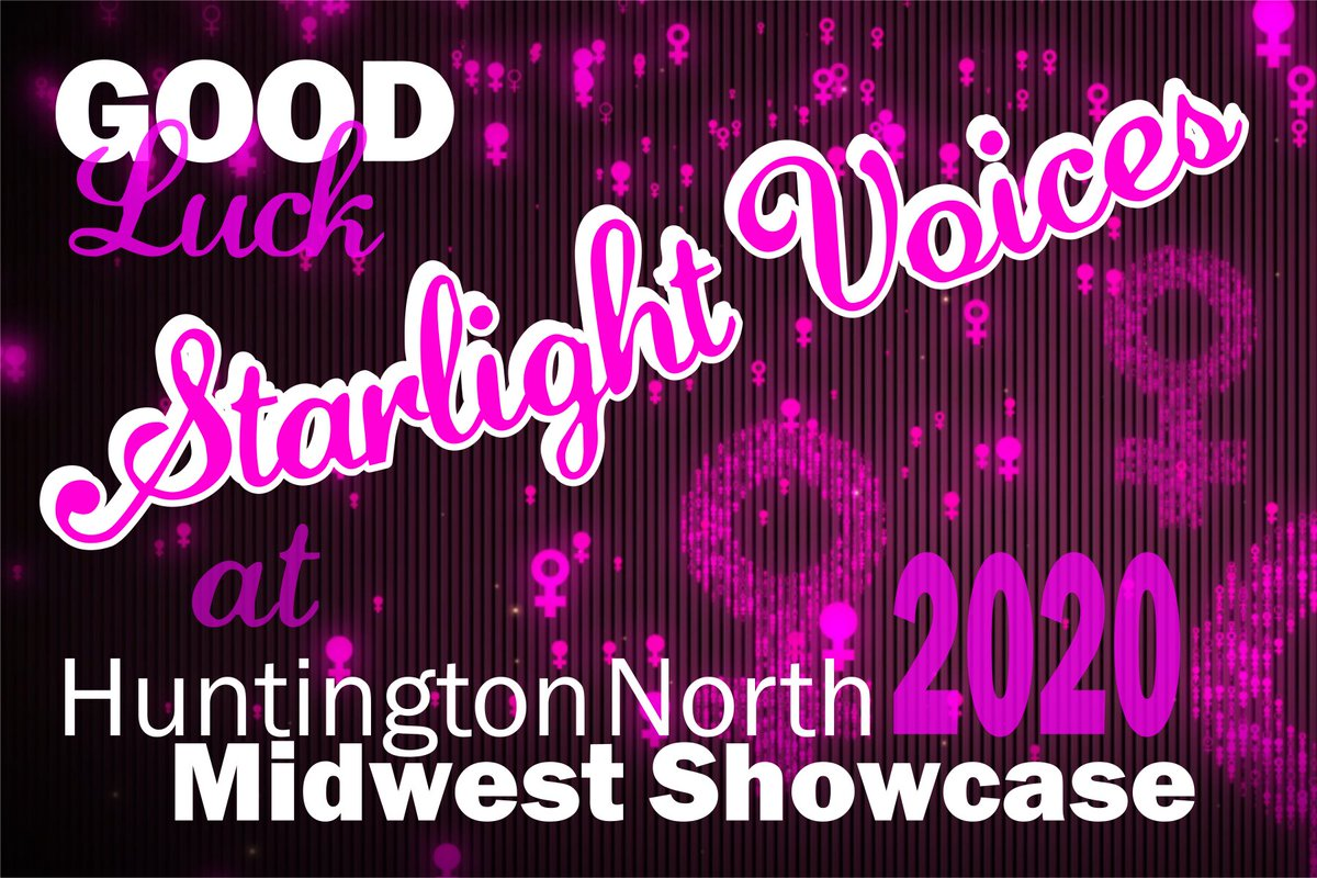 It's time!  #BHSChoirs #showchoir comp season is ready for launch at the Huntington North Midwest Showcase Saturday!  Starlight takes charge of the stage at 10am and Spotlight at 3:30pm! pic.twitter.com/pGgdXFIign