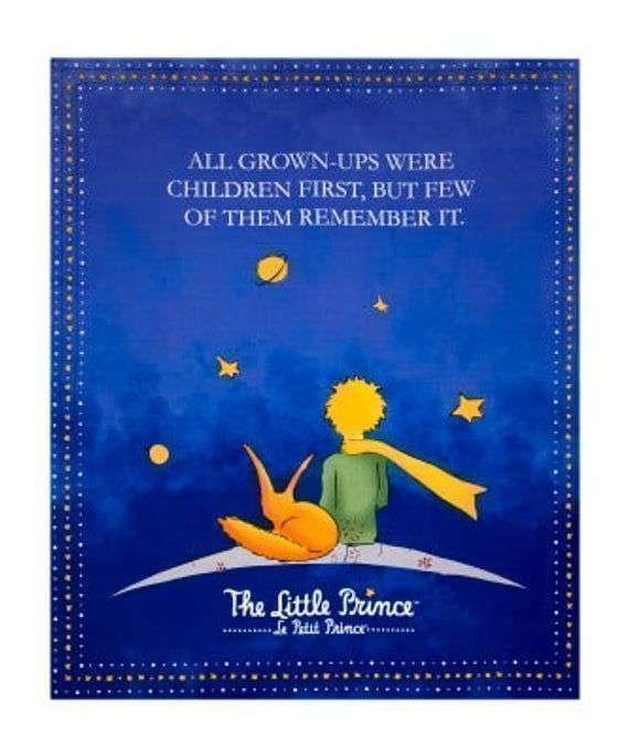 """The #LittlePrince #Quilt #fabricPanel from #RileyBlake #Fabric #QuiltingCotton #Baby or #Toddler #Panel  #Sewing #Quilting 36 x 44"""""""