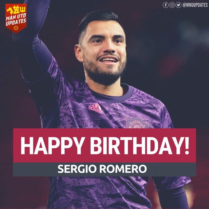 Happy 33rd birthday to United GK Sergio Romero.