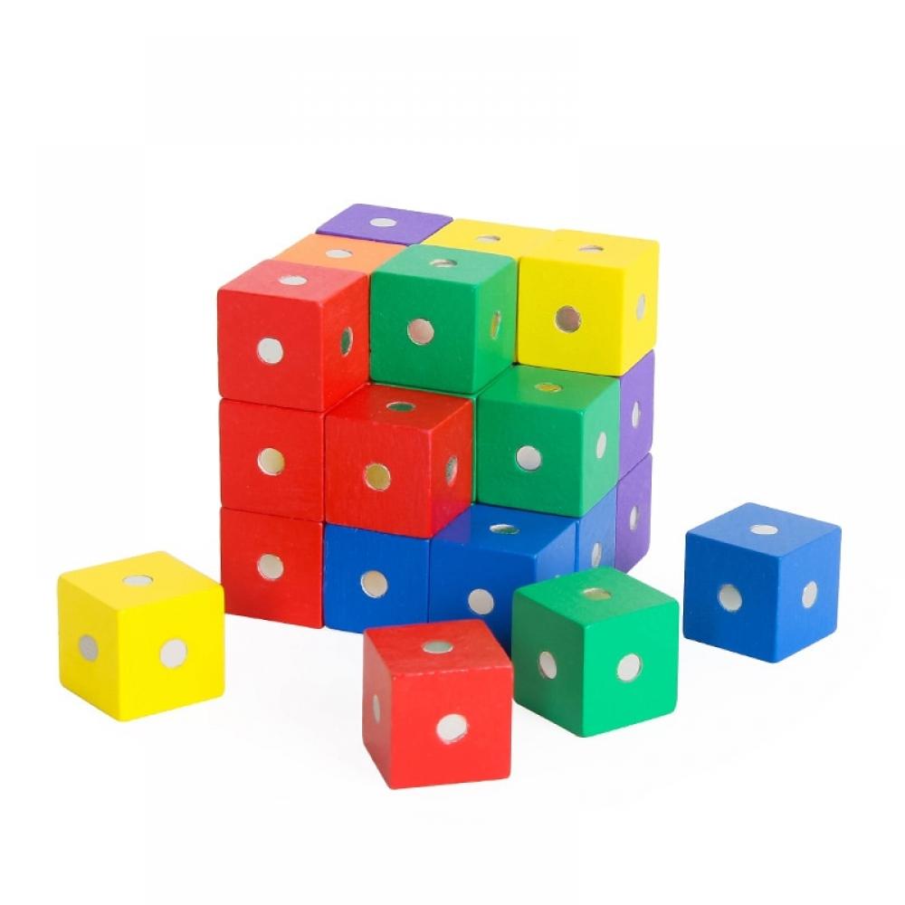 Wood Block 10 Pcs Magnetic Cube For Children Kids Educational Math Toys  #3D #block #blocks #building #child #children #cube #DIY #education #educational #gift #kids #magnet #magnetic #math #mathematic #model #present #toys #wood #baby #toddler