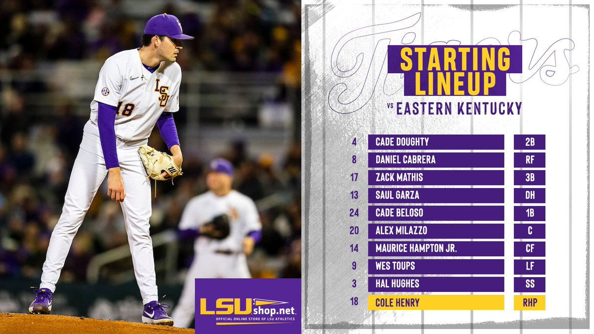 The starting lineup for your LSU Fighting Tigers!