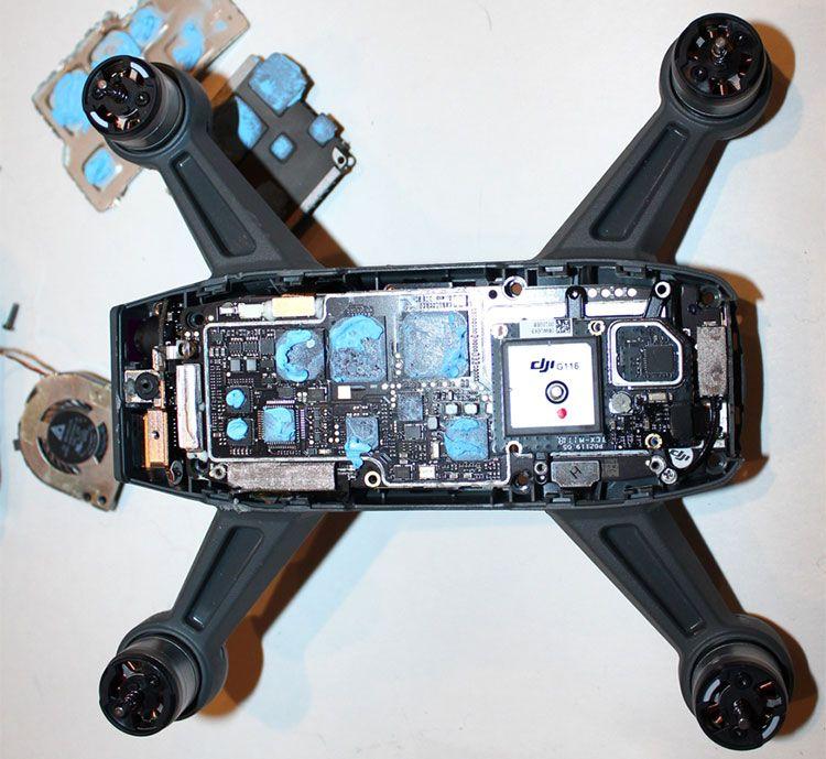 DJI Spark #drone teardown   #sensors #communications #electronics #PCB