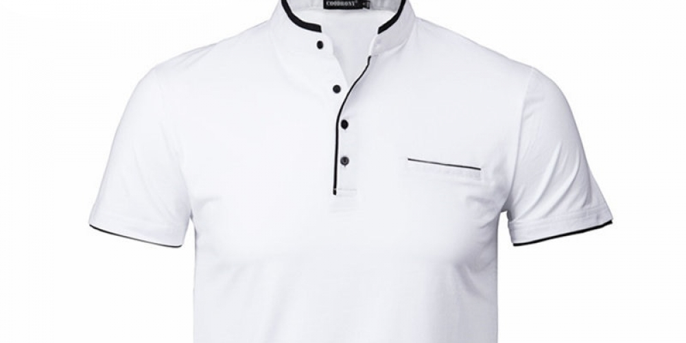 Men's Elegant Shirt with Mandarin Collar #handsome #cool