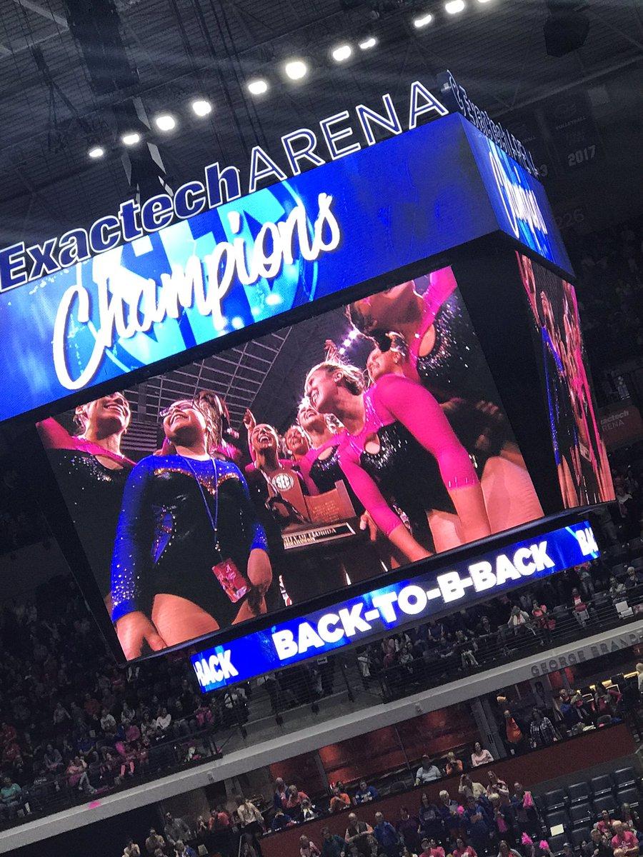 SEC champs! Congrats ladies! @GatorsGym