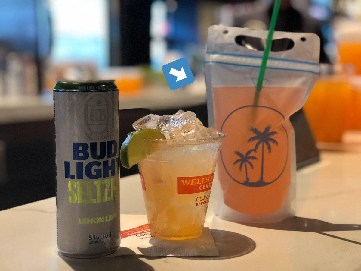 """Tonight's @PostMalone drink specials include """"The Post Pouch""""🧃#RunawayTour"""