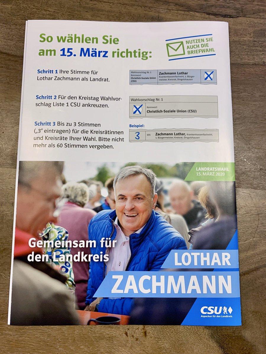 In diesen Tagen wurde unser Flyer zur Kreistagswahl verteilt. Ich stehe auf Platz 5 und würde mich über drei Stimmen freuen! Die weiteren Gerolzhöfer stehen auf den Plätzen 25 (Beate Glotzmann), 49 (Markus Reuß) und 55 (Arnulf Koch). #CSU #TeamZachmann #TeamWozniak #Gerolzhofenpic.twitter.com/dcSEq0K3hy