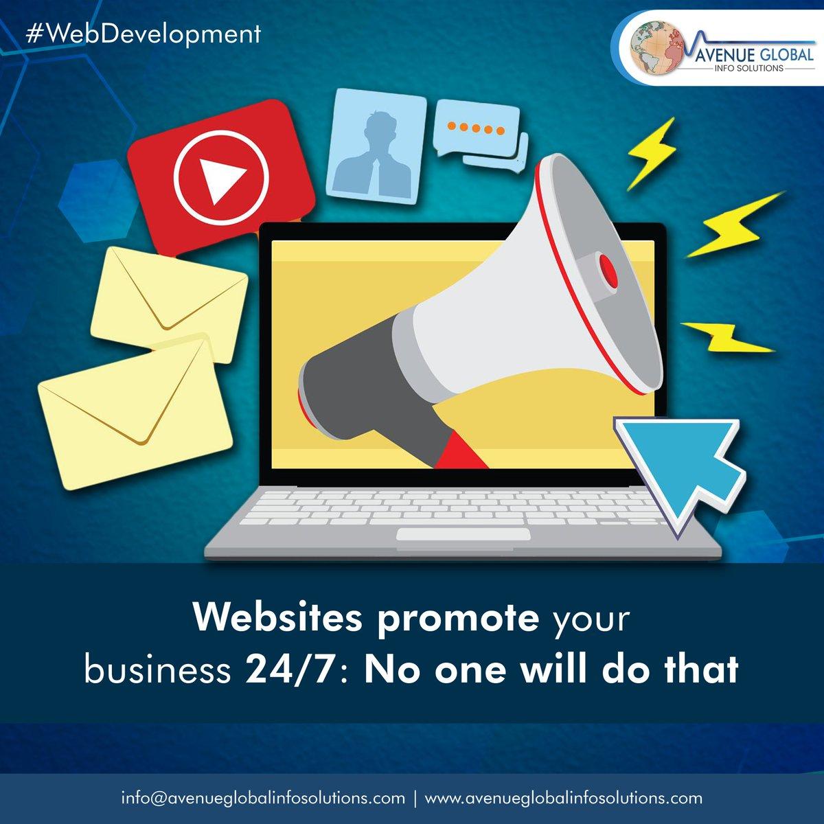 Website Promote your Business 24/7.  #webdesigncompany #websitedeveloper #webdesigntips #instatech #socialmediamarketing  #avenueglobal #AGIS #Webdesigning #Digitalmarketing #SaturdayMotivation #SaturdayThoughts  #Websitedevelopment #websitebuilder #ITcompany #Punepic.twitter.com/dykRUa6FE4