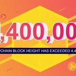 Image for the Tweet beginning: Congratulations on #Dappchain block height