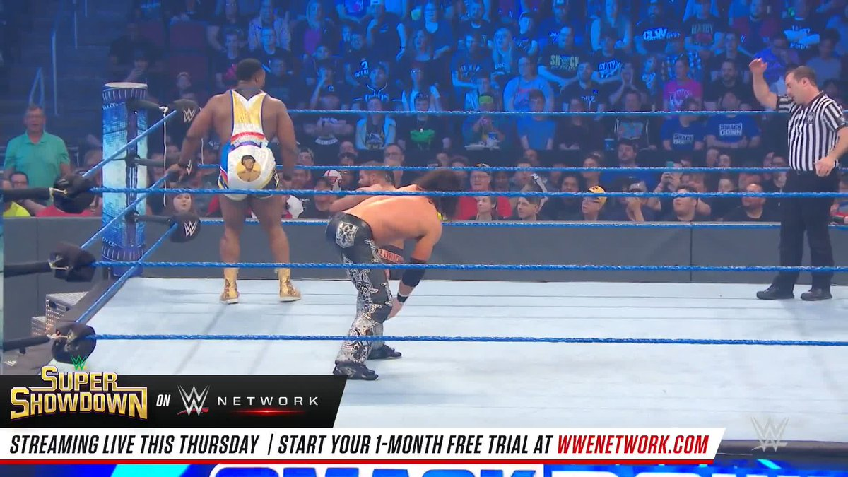 Using the Arizona real estate to their advantage, it was all-out chaos when The @WWEUsos, @WWEBigE & @TrueKofi faced off against @mikethemiz , @TheRealMorrison, @HEELZiggler & @RealRobertRoode in 8-Man Tag Team action! #SmackDown