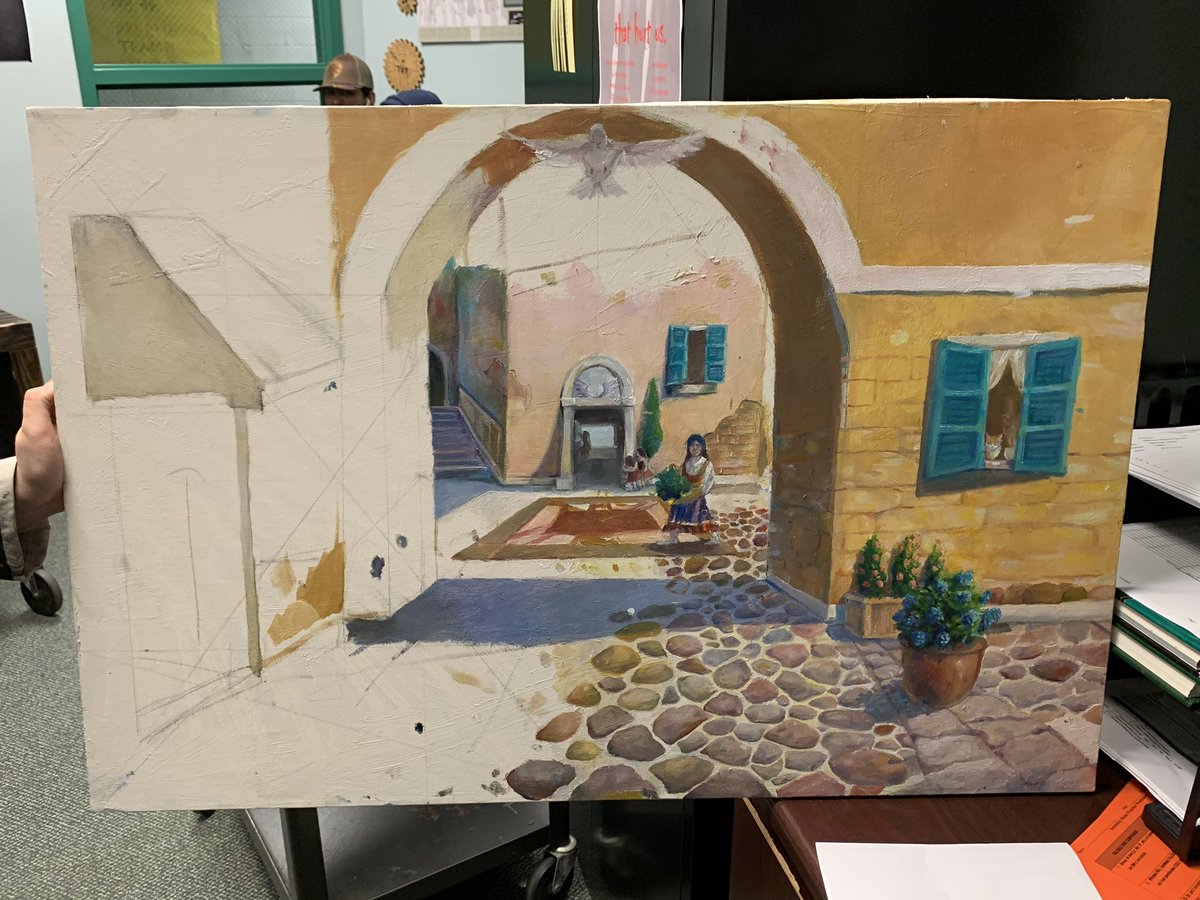 One of my office aides showed me her artwork this week. Just another reminder of how talented our students are! @SpringISD @SPRINGHIGHLIONS #mbybob https://t.co/16uHFjRWbR