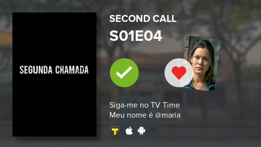 i've just watched Second Call S01E04 #segundachamada 9.9/10  #tvtime https://t.co/C6wHej9LZw https://t.co/JgCzLQzbSy