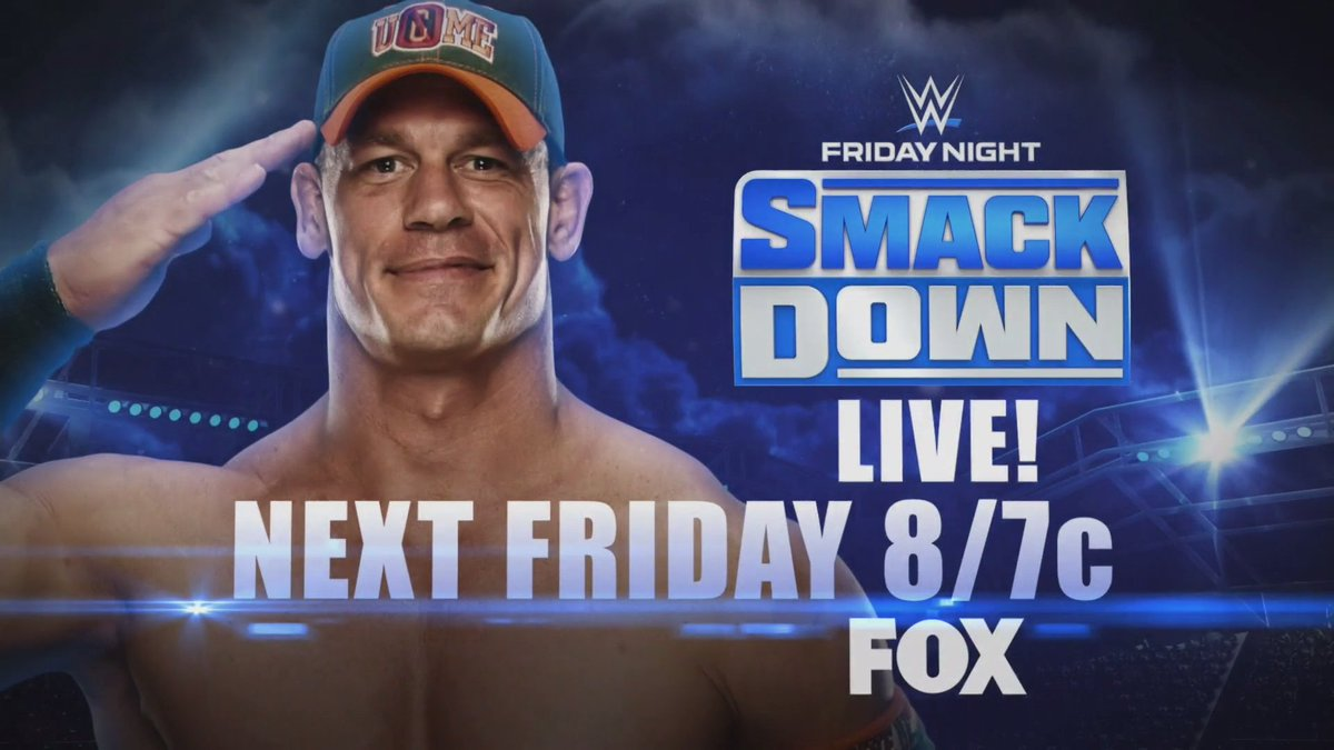 NEXT FRIDAY on #SmackDown! @JohnCena