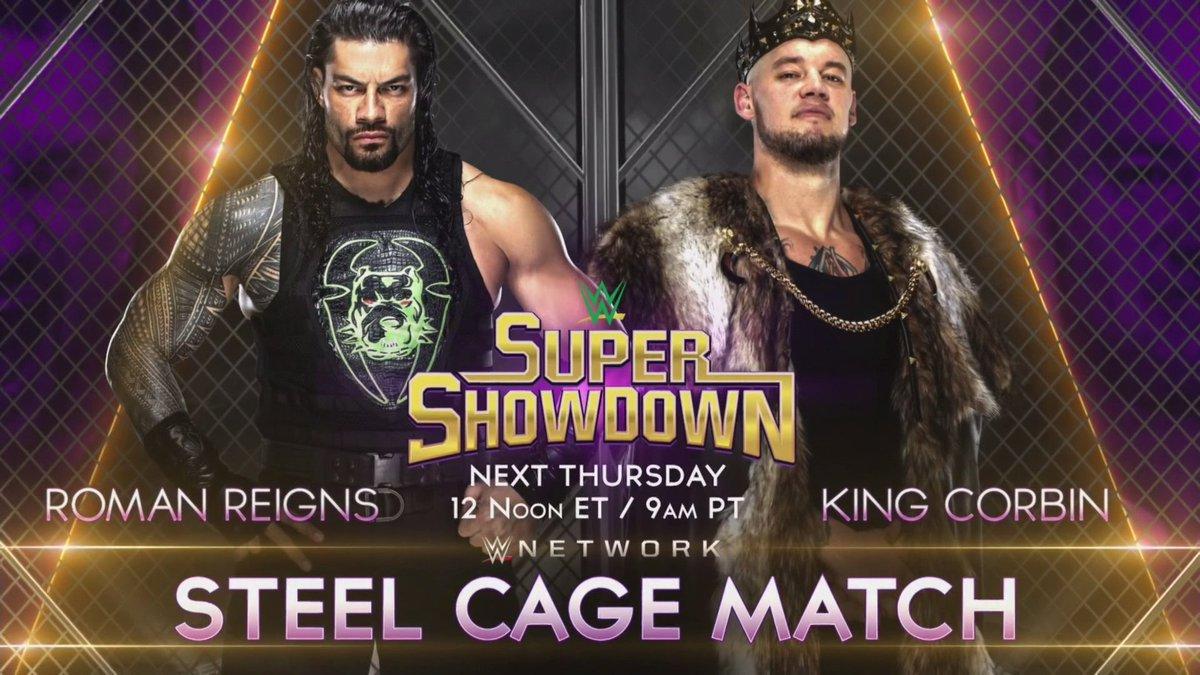 Next Thursday! #WWESSD @WWERomanReigns #King @BaronCorbinWWE