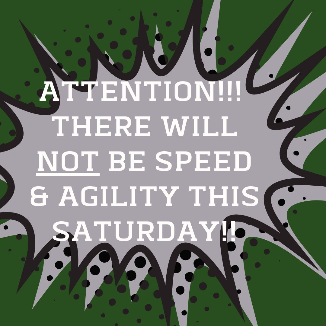 JUST ANOTHER REMINDER!!! THERE IS NO SPEED & AGILITY TOMORROW MORNING!!!   We will be open 10am-6pm for practice though!! #thirdmonkeysports #grindincludestheweekend #nodaysoff #saturdayswings #dobigthingspic.twitter.com/EmALT52aJO