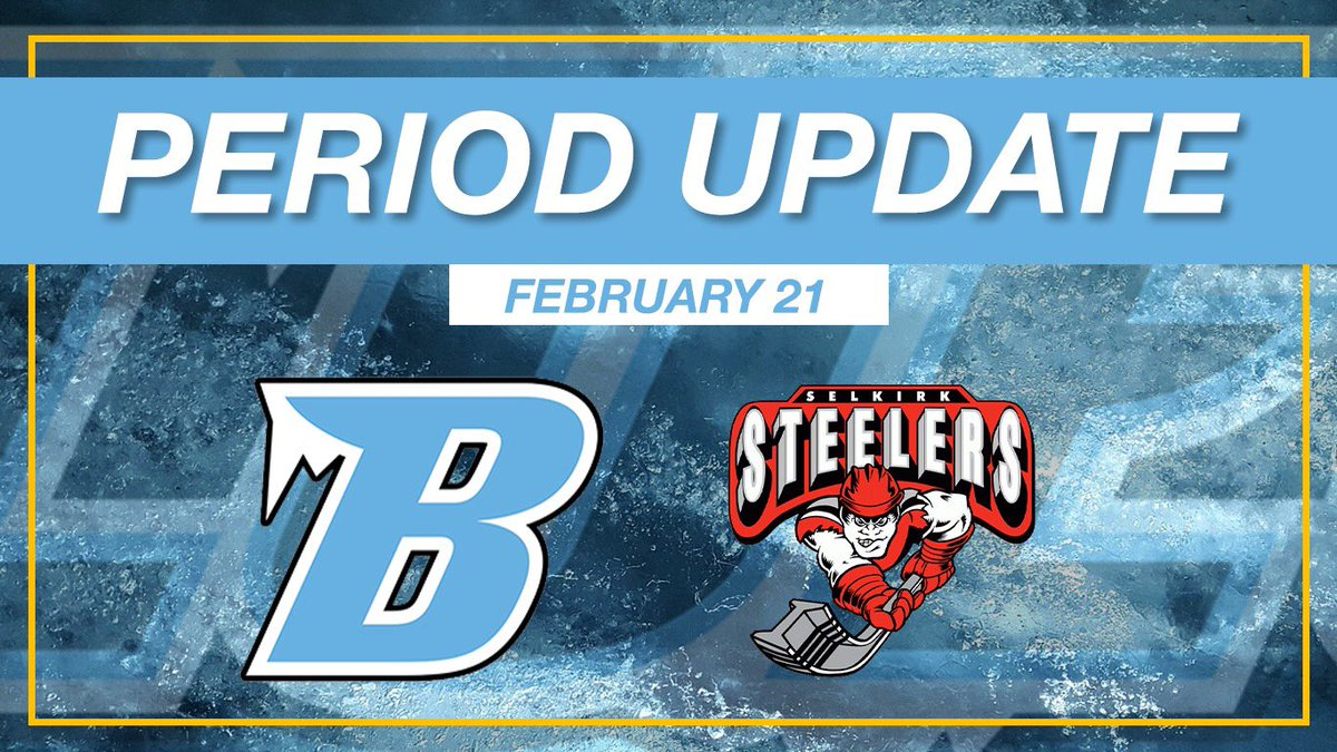After the 1st period we lead the Steelers 2-1.   Blues Goals - Hersant, Joss  Steelers Goal - Burr  SOG Blues - 12  Steelers - 12 pic.twitter.com/HhJS6OwYX4