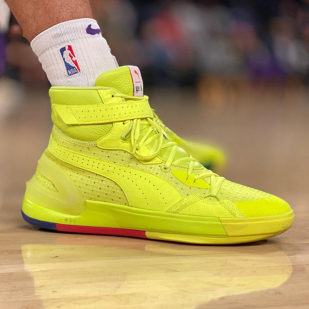 Danny Green in a new PUMA Sky Dreamer colorway at home! #NBAKicks