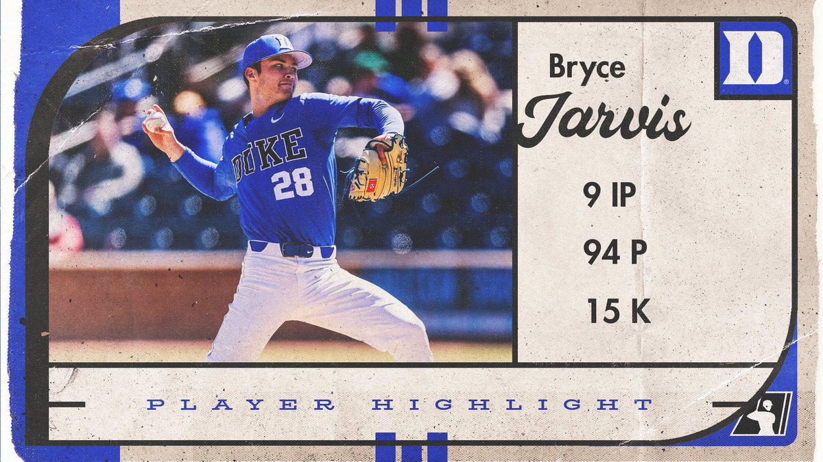 Have yourself a night, @BryceJarvis28! First perfect game in @DukeBASE history! #NCAABaseball