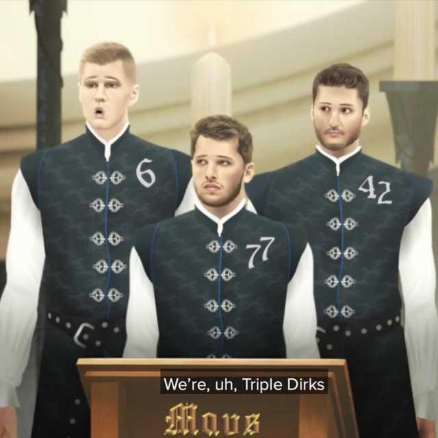 The Triple Dirks tonight: Luka: 33/10/8 KP: 24/10/5/5 Maxi: Career-high 26pts #MFFL