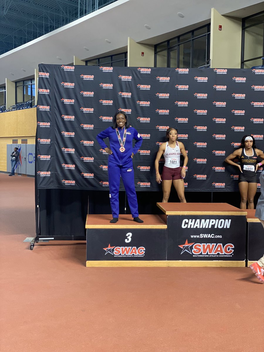 I just wanna say Im very blessed to make finals in the 200 and 400. I got 2nd in the 400 and 3rd in the 200 with a new Indoor PR 🗣. Ready for Outdoor. The Marathon Continues 🥈🥉.