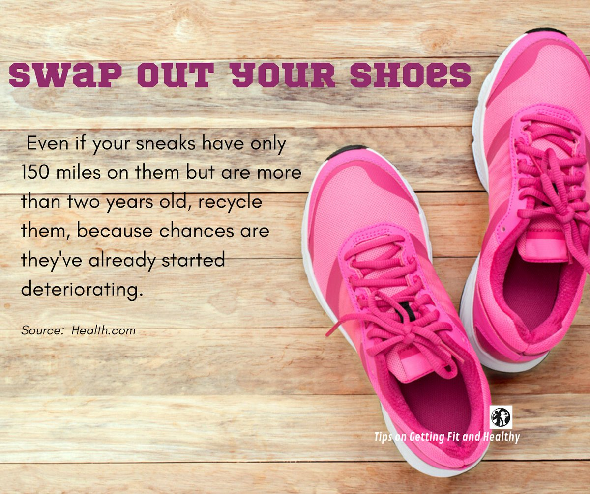While weve all heard that #running  shoes break down after logging lots of miles (about 300 to 350), you may still be holding on to your fave pair. Not a good idea.