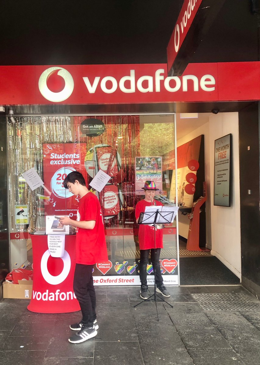 My boys supporting #connectwithlove at our @VodafoneAU Darlinghurst store<br>http://pic.twitter.com/TpoDkMu6fK