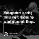 Image for the Tweet beginning: #Management + #Leadership = #Entrepreneurship