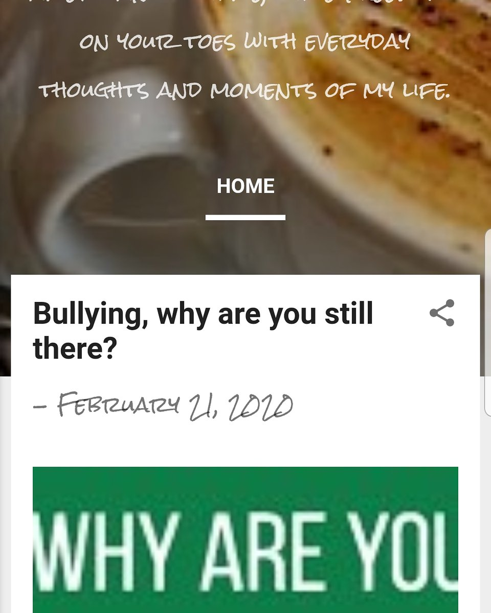 My new conversation is on the blog check it out by clicking on my bio! #coffeelovers  #bloggerslife  #bullyingstopswithuspic.twitter.com/ALs6rLE0tU