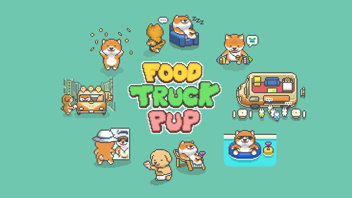 『柴犬のクレープ屋さん/Food Truck Pup』アップデート🐶新たに『別荘』を追加しました✈️豪華なプール付きです🏊♀️どんどん広がる『柴犬ワールド』をよろしくお願いします😀iPhone: Android: #indiegame #indiedev #pixelart #ドット絵