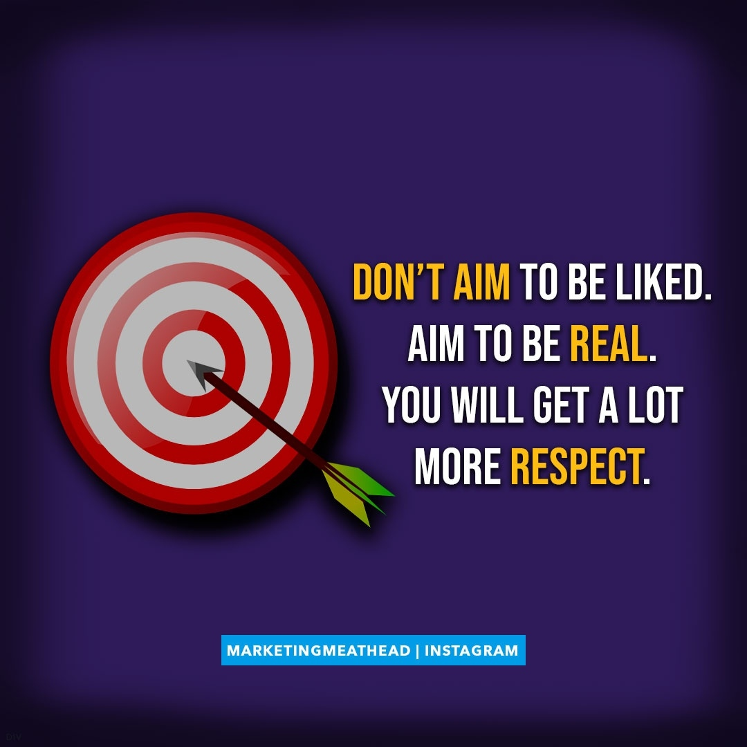 Don't aim to be liked. Aim to be real. You will get a lot more respect. . #leadgenaffiliate #quotestolivebydaily #inspiredliving #keepgoing #selflovequotes #motivating #positivelife #keepmovingforward #motivationquotes #positivemindset #entrepreneurquotes #epicpic.twitter.com/uomOChAx9F