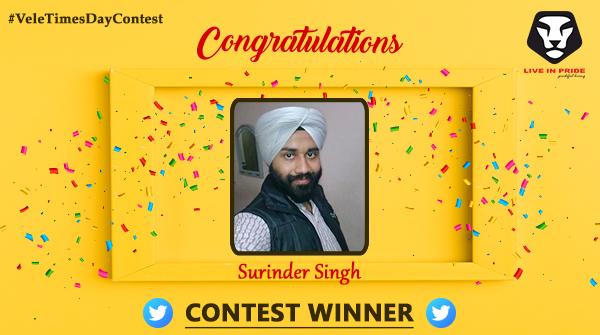 Congratulations on your fantastic victory @surindersuri99!!! Kindly DM us your details to claim the reward!  #ContestWinner #ContestAlert #ValentinesDayContest #LiveInPride