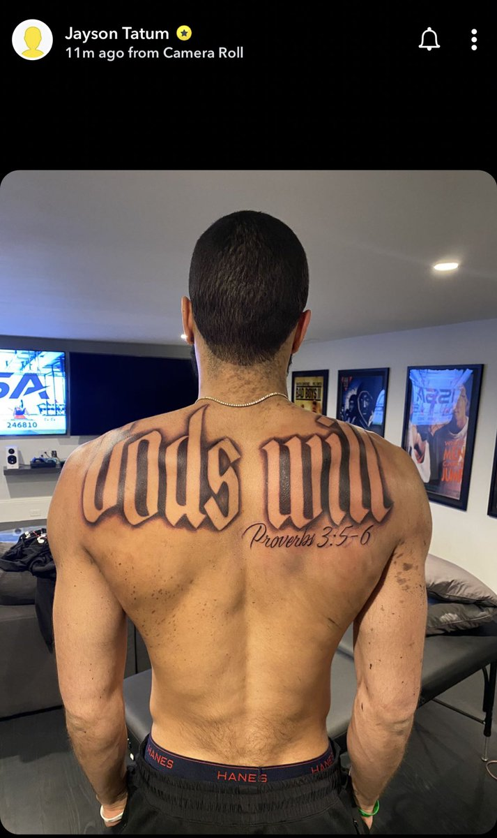 Jayson Tatum got a new tattoo