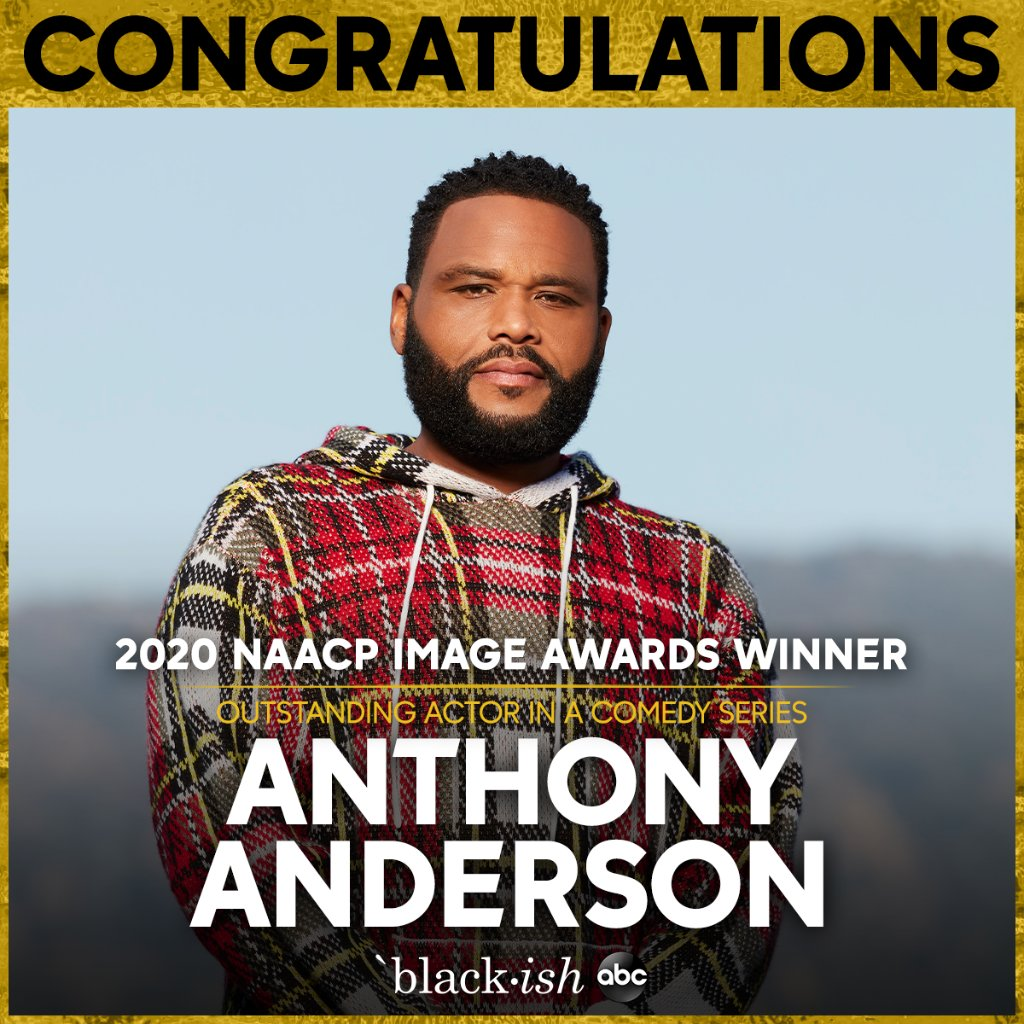 Replying to @blackishabc: Congrats to @anthonyanderson for his #NAACPImageAwards win!