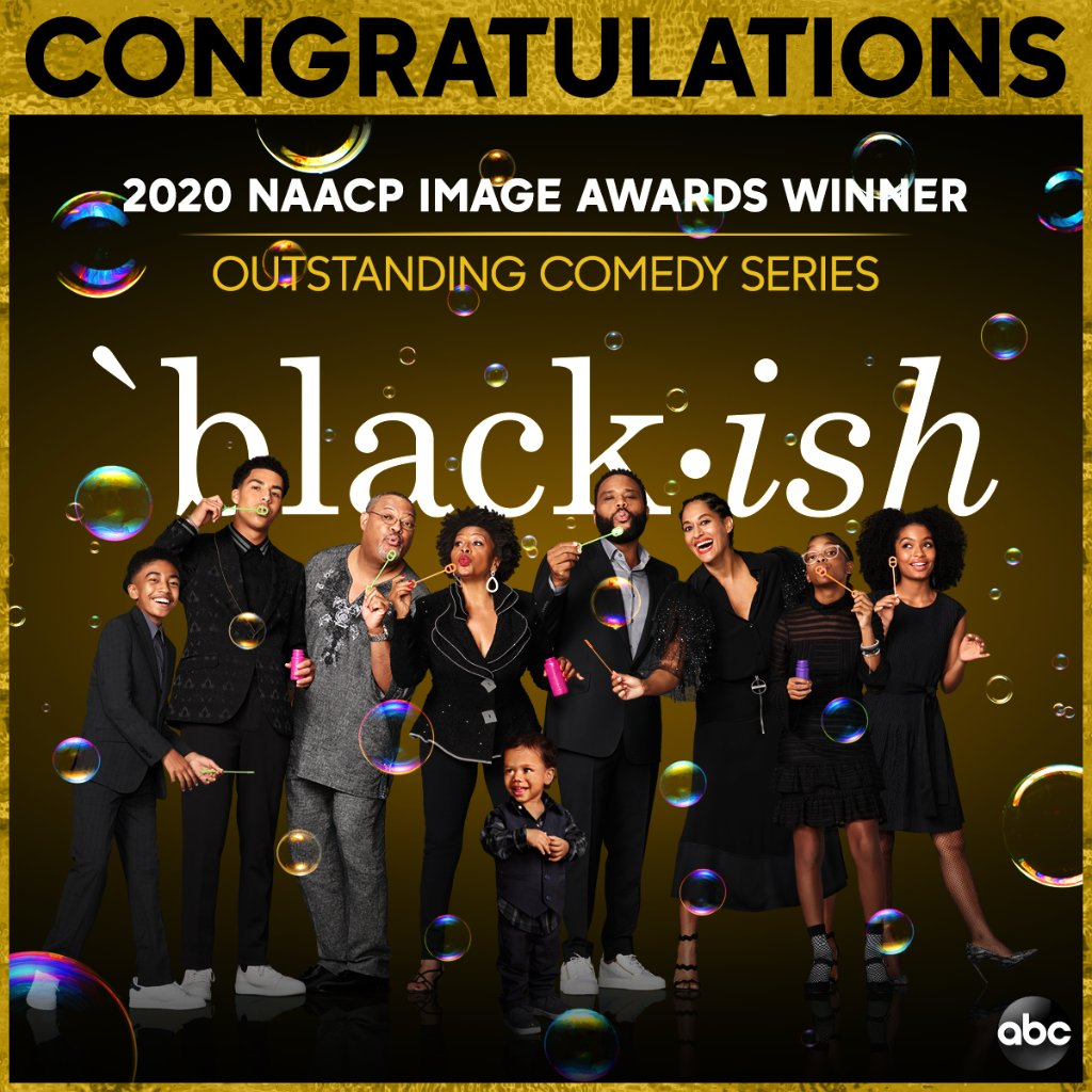 Replying to @blackishabc: We're honored to receive Outstanding Comedy Series at the #NAACPImageAwards #blackish