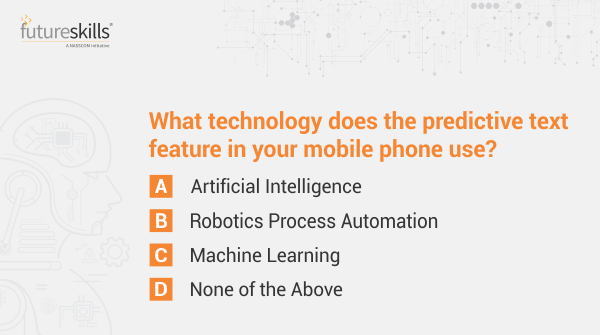 Ques 1  Learn more about technologies of the future by taking part in our quiz. Answer all 5 questions correctly using #NASSCOMFSQuizContest & win Amazon gift vouchers worth 1K. Participate, share & tag your friends!  T&C Apply: http://bit.ly/2SMITnY   #Contest #ContestAlert