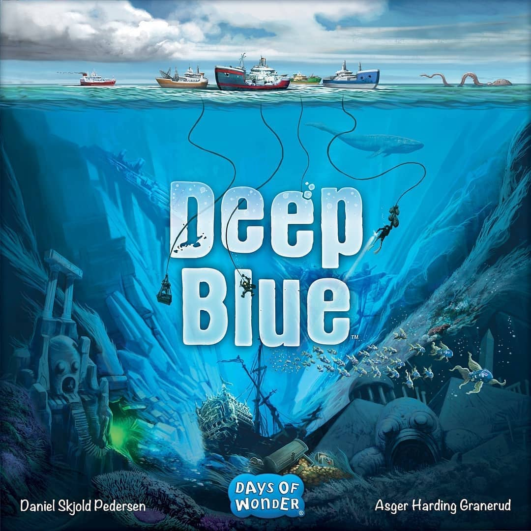 Dive for treasure in Deep Blue, an Oct. 2019 release from @daysofwonder . Gather equipment, find the right spot, and dive — or mooch off others to profit from their work! Game overview on BGG News: https://www.boardgamegeek.com/blogpost/91882  —WEM #deepblue #bgg #daysofwonder #kingmade #boardgamespic.twitter.com/Ut5BvLvz3x