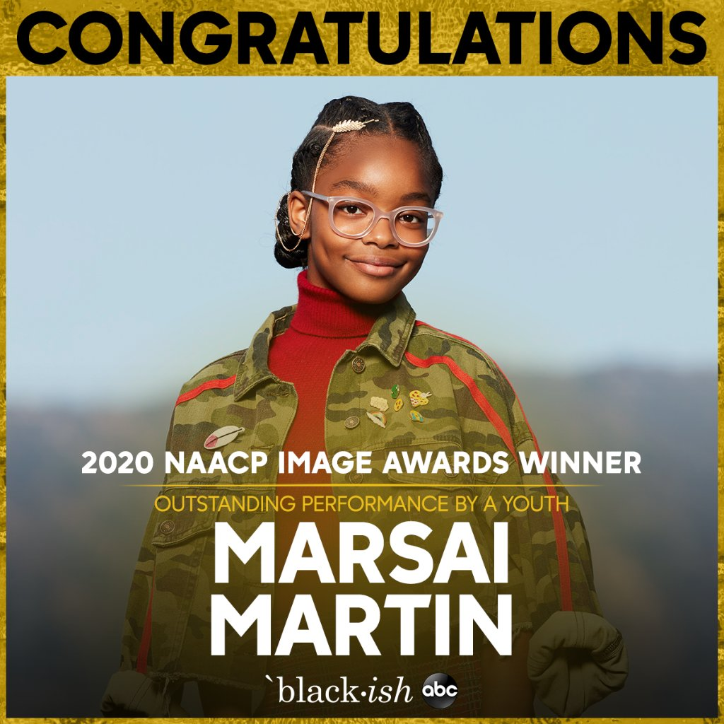 Replying to @blackishabc: Congrats to @marsaimartin for her #NAACPImageAwards win!