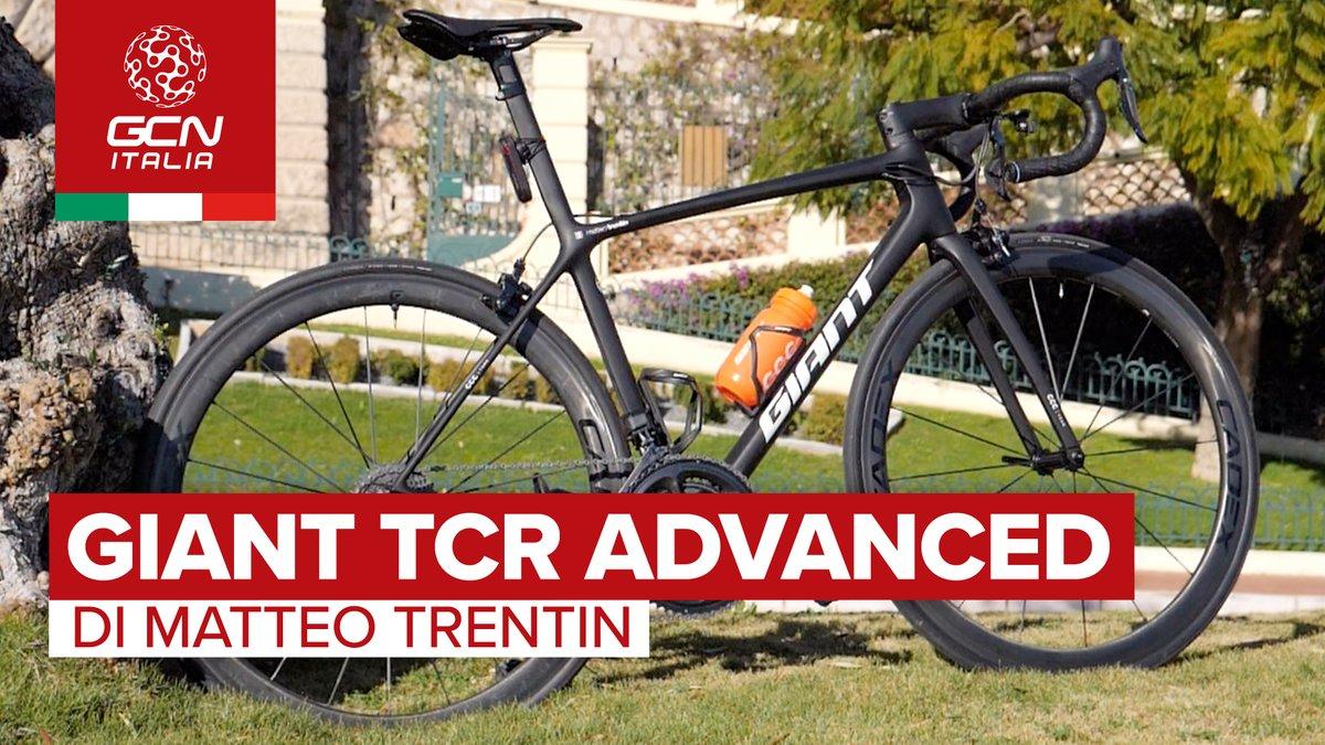 La Giant TCR Advanced è la bici che il vice campione del mondo @MATTEOTRENTIN usa in allenamento.  Puoi guardarla nei dettagli al link👇📹    @CCCProTeam #probike #bike #giantbike #yorkshire2019 #ciclismo #ciclista #training