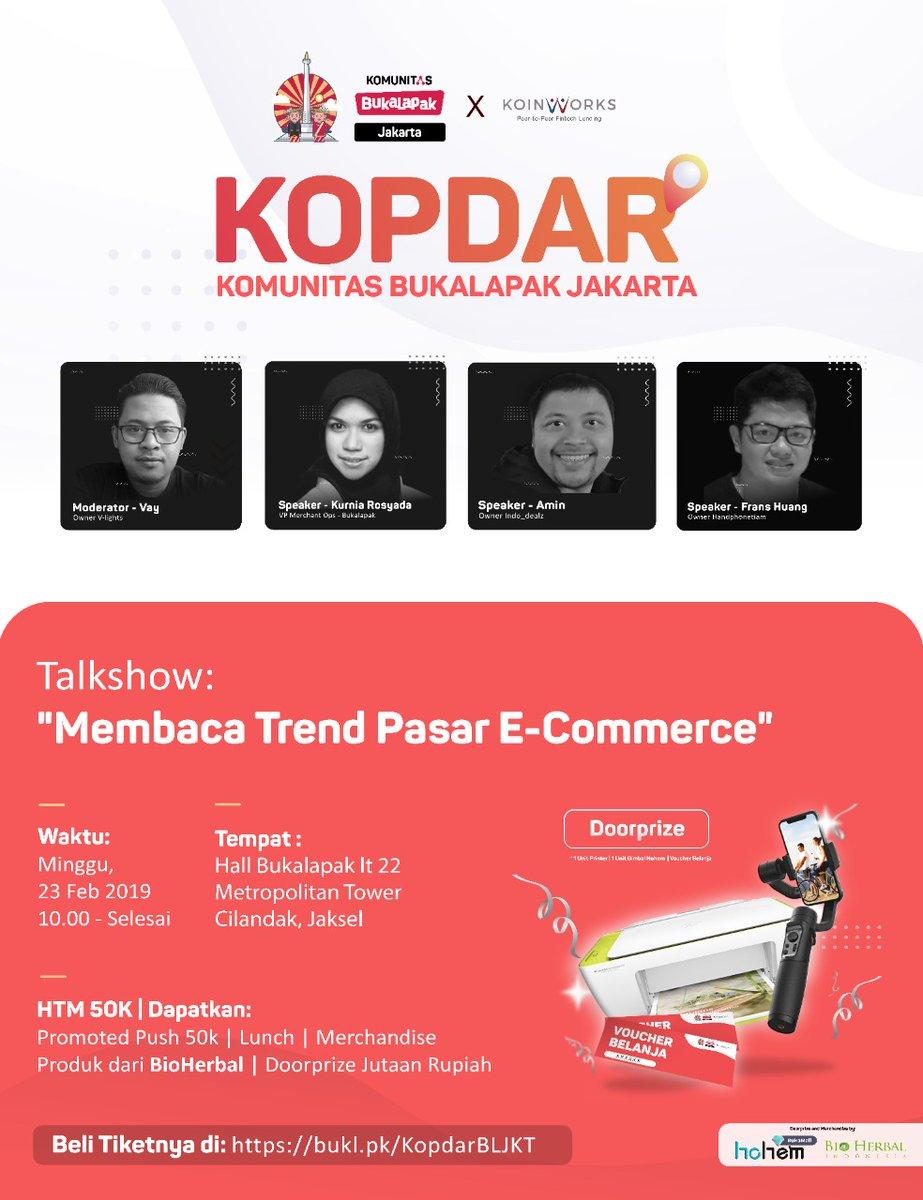 Sampai ketemu esok hari ya, untuk yang belum daftar bisa  Info/Daftar di   #Kopdar #Komunitas #Pelapak #PelapakBukalapak #KopdarKomunitas #IlmuNgelapak #KomunitasBukalapak #KomunitasBukalapakJakarta #TalkShow #Jakarta #Indonesia