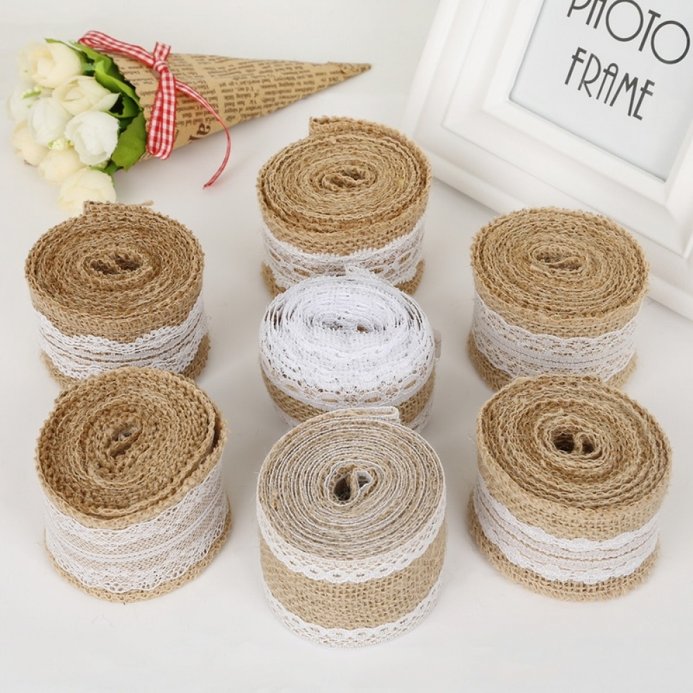 #decoration #style Vintage Hessian Lace Ribbon for Wedding Decor
