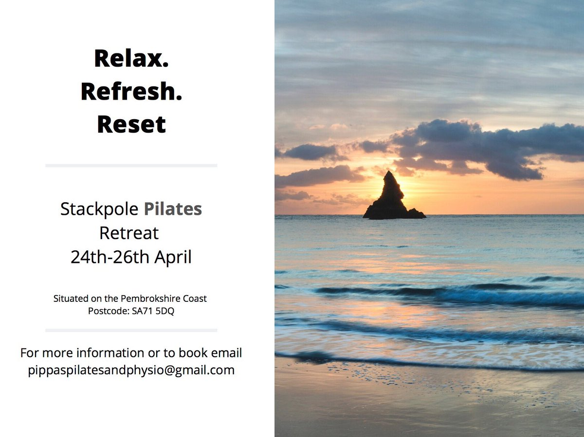 Weekend Pilates retreat - West Wales  For more information please get in touch or email pippaspilatesandphysio@gmail.com   #pilatesretreat #pilates #lovepilates #physiopilates #westwales #wales #seaair #barafundlebay #broadhavenbeach #clinicalpilates #pilatesforlife pic.twitter.com/xaaGSTyQdd