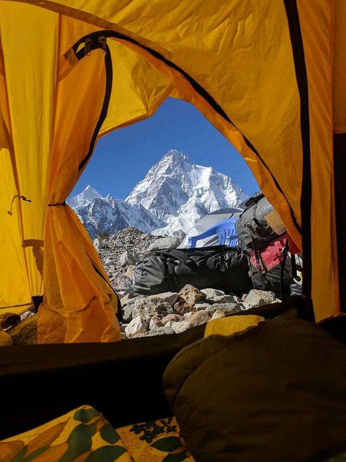 Beautiful view of Mt. K2 (8611 m), the second highest mountain in the world, Gilgit-Baltistan, #Pakistan. ©: John Snorri Sigurjónsson.