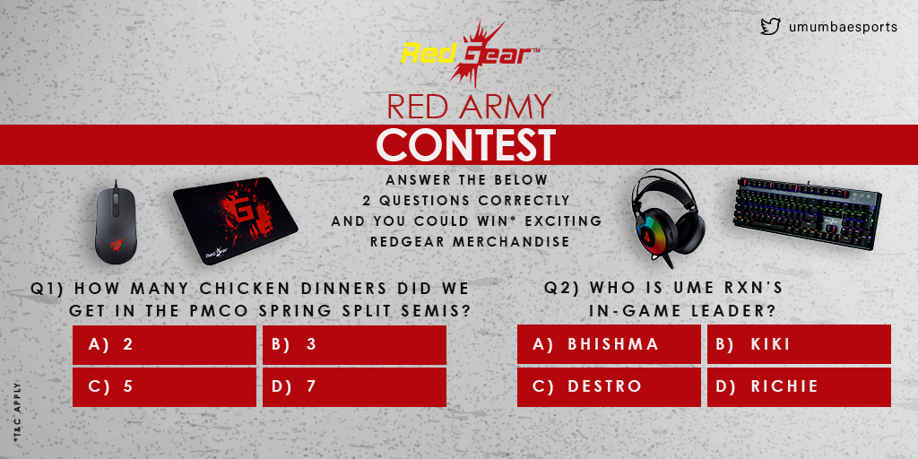 🚨Rules to Enter the #RedArmy Contest🚨 1. Follow our Twitter page and #RedGear on Instagram. 2. Answer all the questions correctly --------------------------------------------------------------- Note: The winners will be announced on Monday. (1/3)