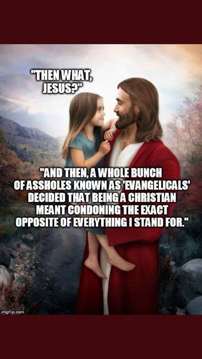 @mikecollins2141 @Bud10818736 I can't IMAGINE why he would say that #Trump wasn't a Christian! Haha Uh OH that's going to make the #FakeChristian EVILGELICAL #CULT45 who worship him and not actually God very ANGRY when they hear that! Will they be DENOUNCING or boycotting the Pope now or call it BLASPHEMY? 🙄