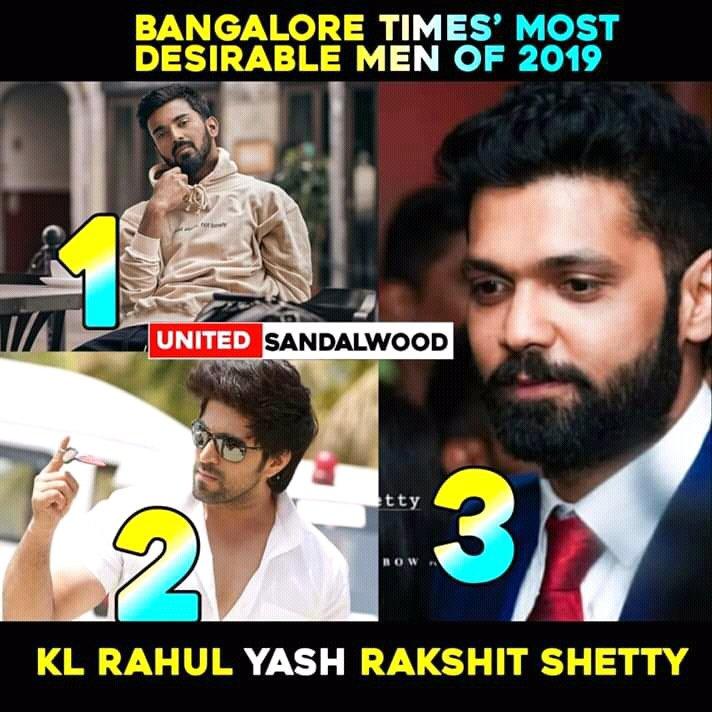 Top3 #mostdesirablemen2019  #KL #Rockybhai #ShreeHari  #BangaloreTimesMostDesirablemen2019  #BangaloreTimesMostDesirable