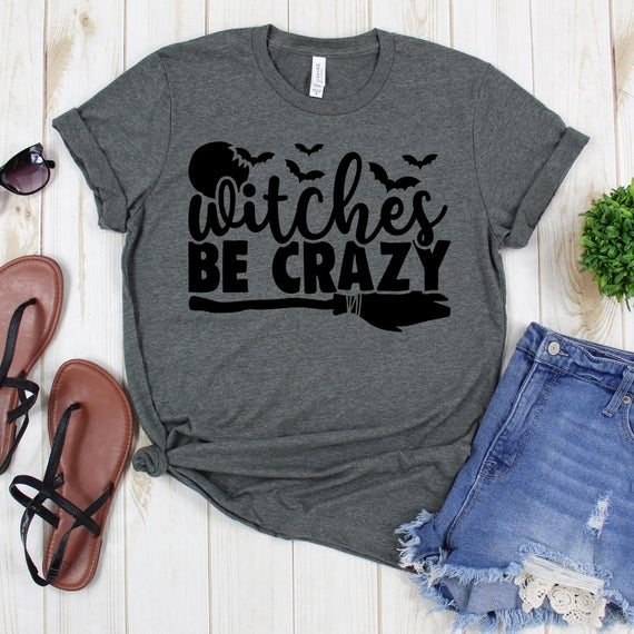 Witch Shirt - Witches Be Crazy Five Bats - Fall #clothing #shirt https://etsy.me/2VgmZuX  #disneyshirt #halloweenshirt #personalizedshirt pic.twitter.com/kbypaz9FsC