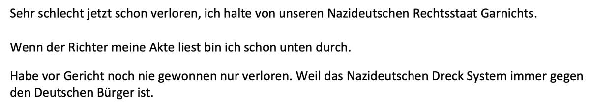 """Was Anwältinnen so lesen müssen ... (Wahrscheinlich sind """"die Flüchtlinge"""" schuld, dass diese Nazis selten die deutsche Sprache beherrschen.) pic.twitter.com/y4ZLzyj8mp"""